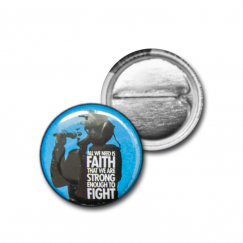 "Button ""Faith"" (blue)"