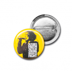 "Button ""Faith"" (yellow)"