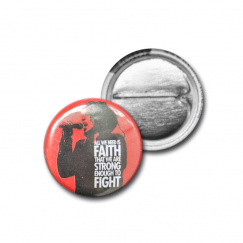 "Button ""Faith"" (red)"
