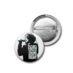 "Button ""Faith"" (white)"