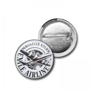 """Button """"Logo SW1"""" (black/white)"""