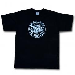 "T-Shirt ""Logo Plane"" (black)"